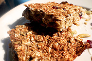 Healthy banana oat bars